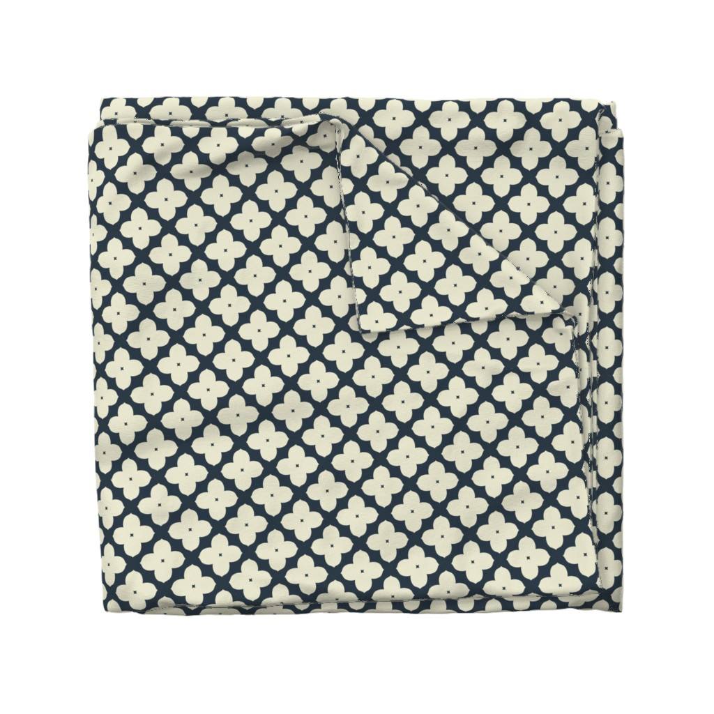 Wyandotte Duvet Cover featuring Bunchberry M+M Navy Black by Friztin by friztin