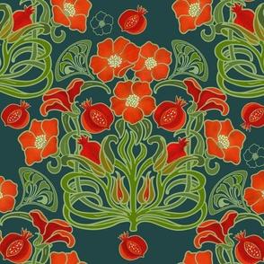 Art Deco Pomegranate Slate