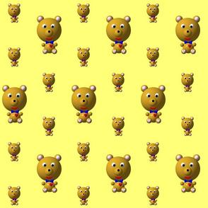 Cute Bear with Bow Tie