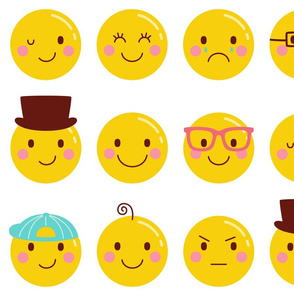 cheeky emoji faces XL all over pattern