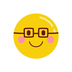 cheeky emoji faces nerd eyeglasses