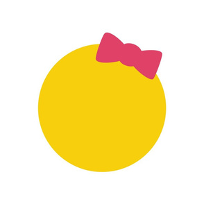 cheeky emoji faces girl with hair bow back