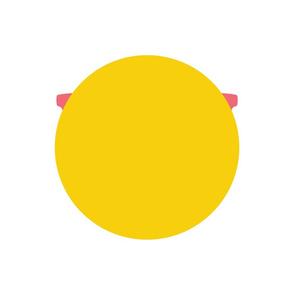 cheeky emoji faces nerd glasses pink back