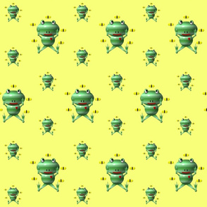 Cute Frog and Flies