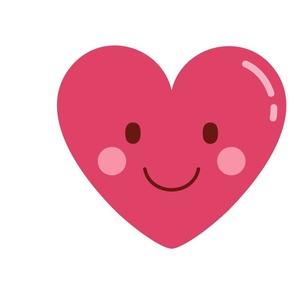 FQ heart love :: cheeky emoji faces - fat quarter pillow / plush - diy cut and sew project