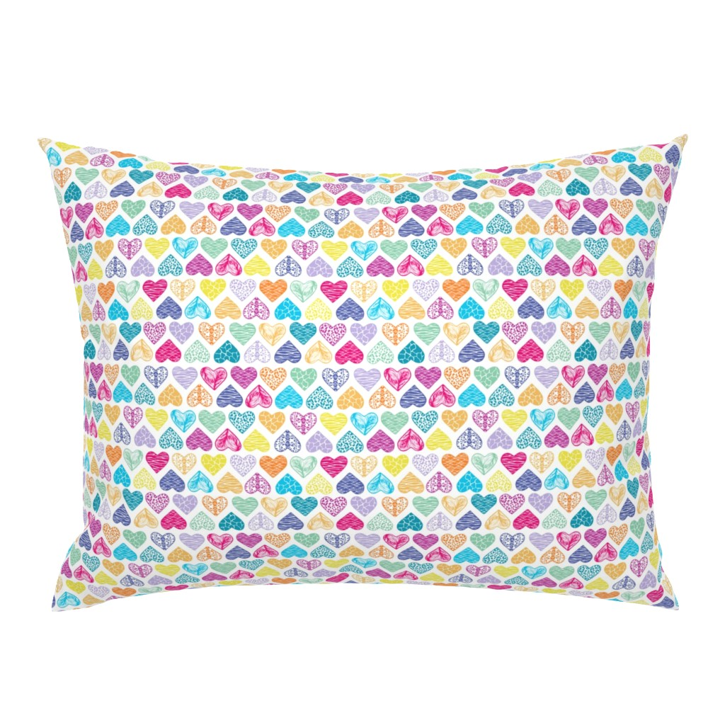 Campine Pillow Sham featuring Wild Hearts Rainbow by christinemay
