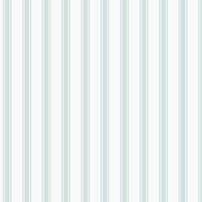 Ticking Stripe: Light Watery Blue