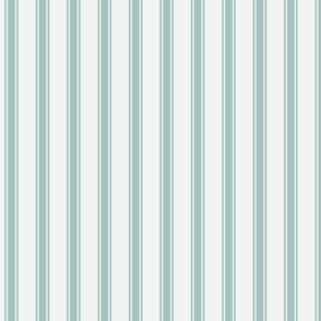 Ticking Stripe: Medium Watery Blue