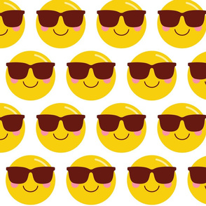 cool shades dude XL :: cheeky emoji faces