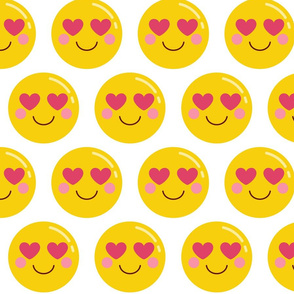 heart eyes XL :: cheeky emoji faces