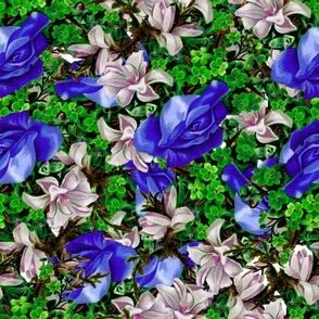 Floral Float in Blue
