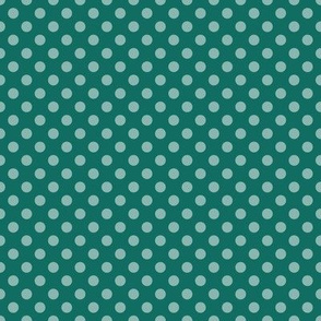 Summer Teal Polka Dots