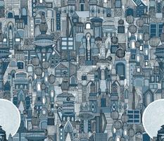 space city mono blue