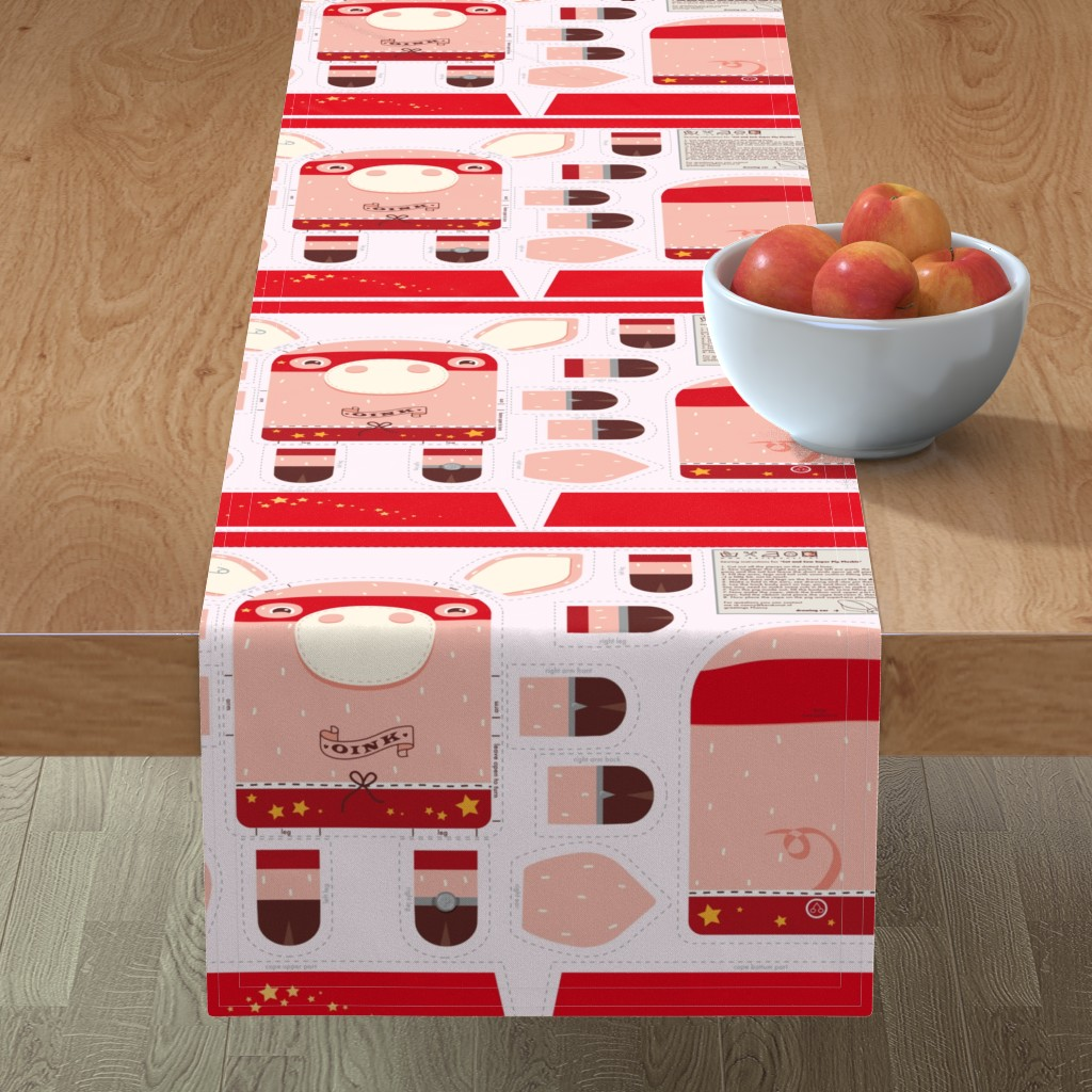 Minorca Table Runner featuring Incredible Super Pig by verycherry