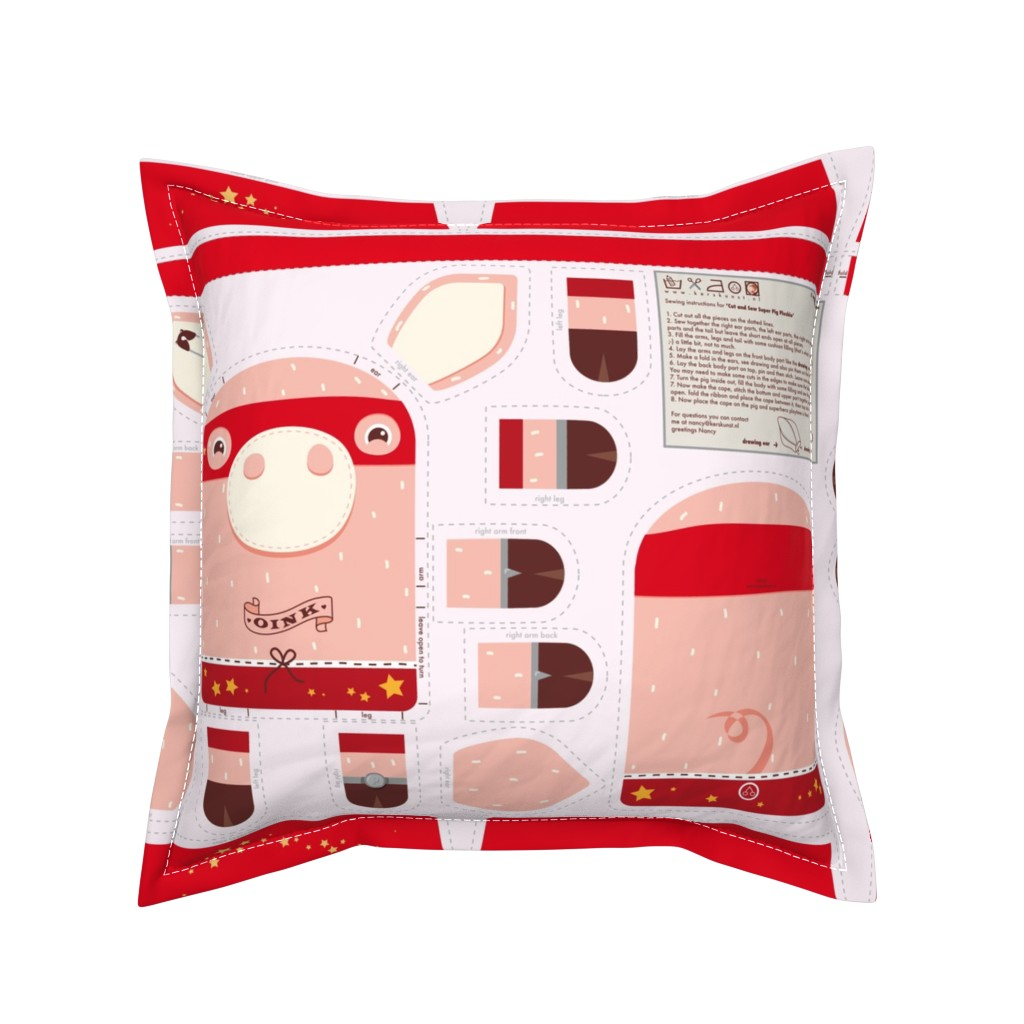 Serama Throw Pillow featuring Incredible Super Pig by verycherry