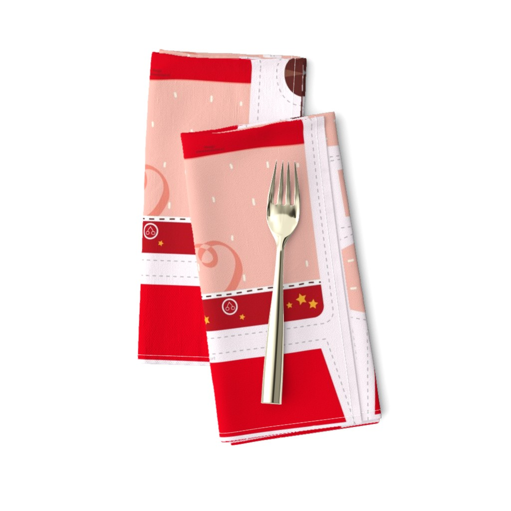 Amarela Dinner Napkins featuring Incredible Super Pig by verycherry