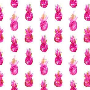 Watercolor pink pineapples