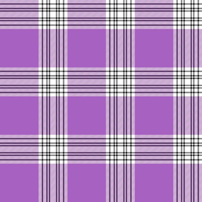 "Menzies mauve and white tartan, 6"" light"