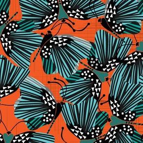 Vibrant Butterflies { Orange }