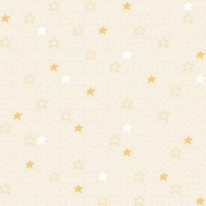 Stars Yellow and White
