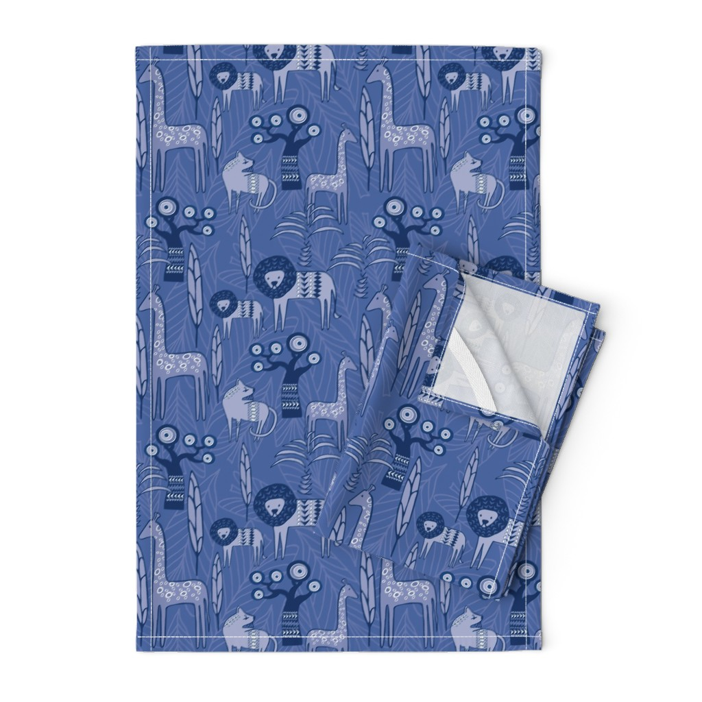 Orpington Tea Towels featuring Savannah Blues by lynnbishopdesign
