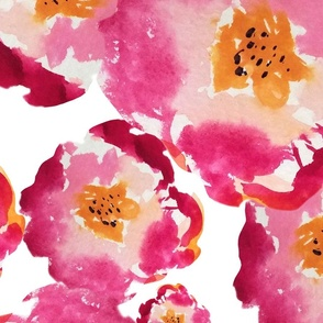 WATERCOLOR FLOWERS VECTOR SEAMLESS