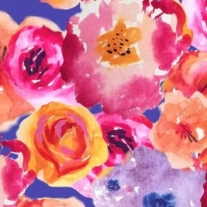 WATERCOLOR FLOWERS OFFSET