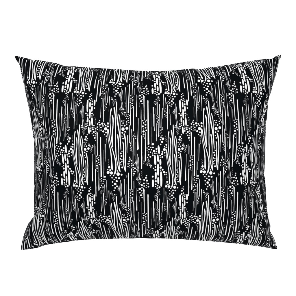 Campine Pillow Sham featuring Black & White, Doodle & Dot by christinemay