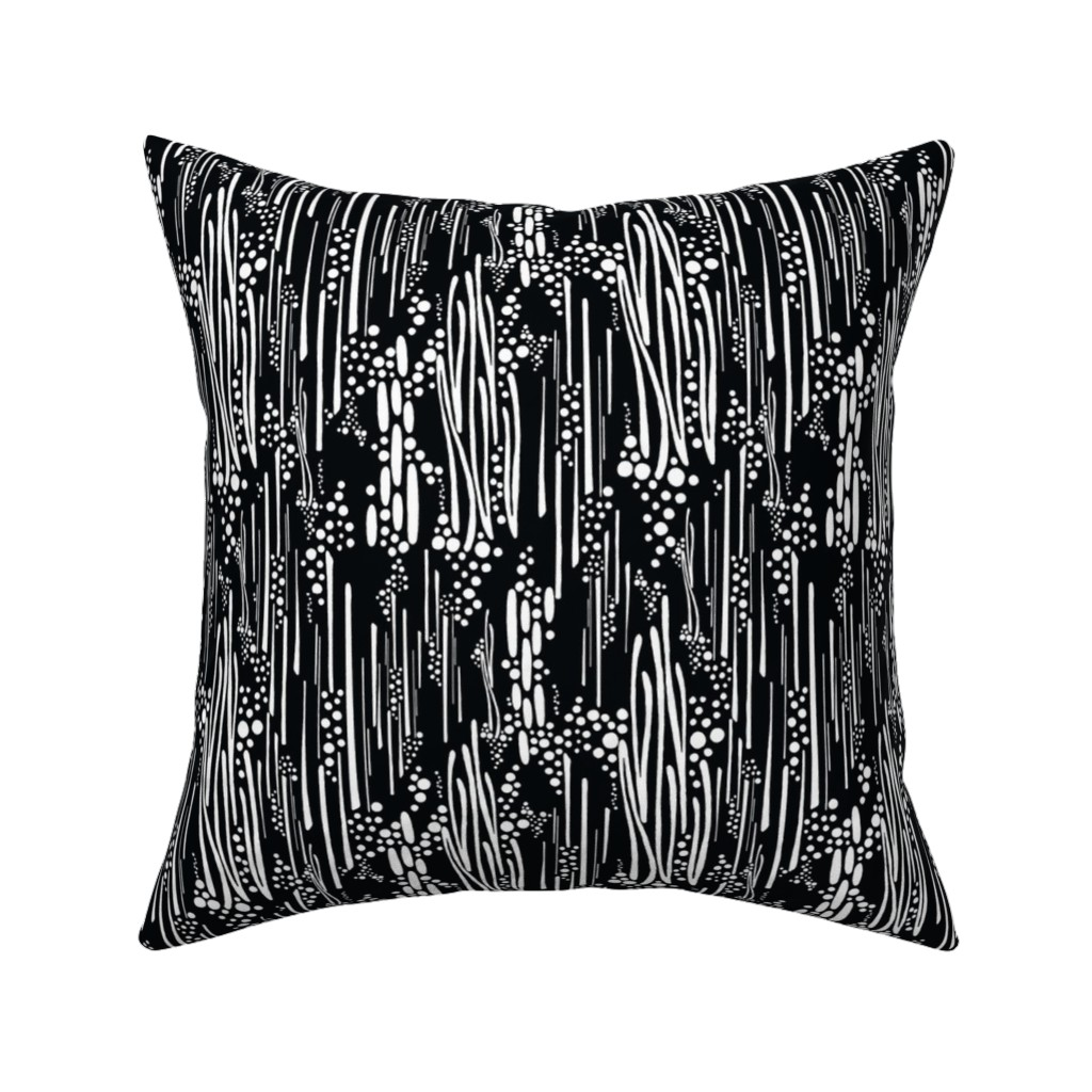 Catalan Throw Pillow featuring Black & White, Doodle & Dot by christinemay