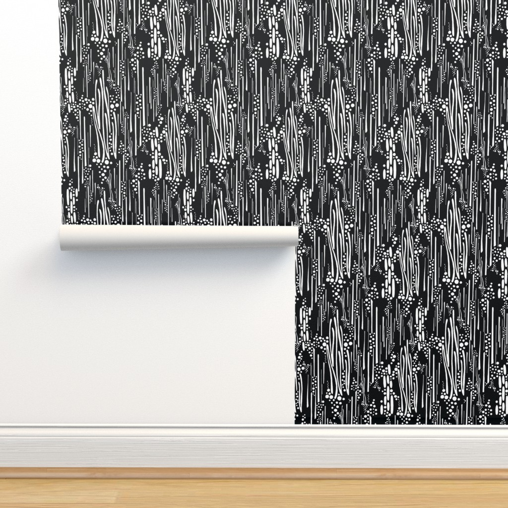 Isobar Durable Wallpaper featuring Black & White, Doodle & Dot by christinemay