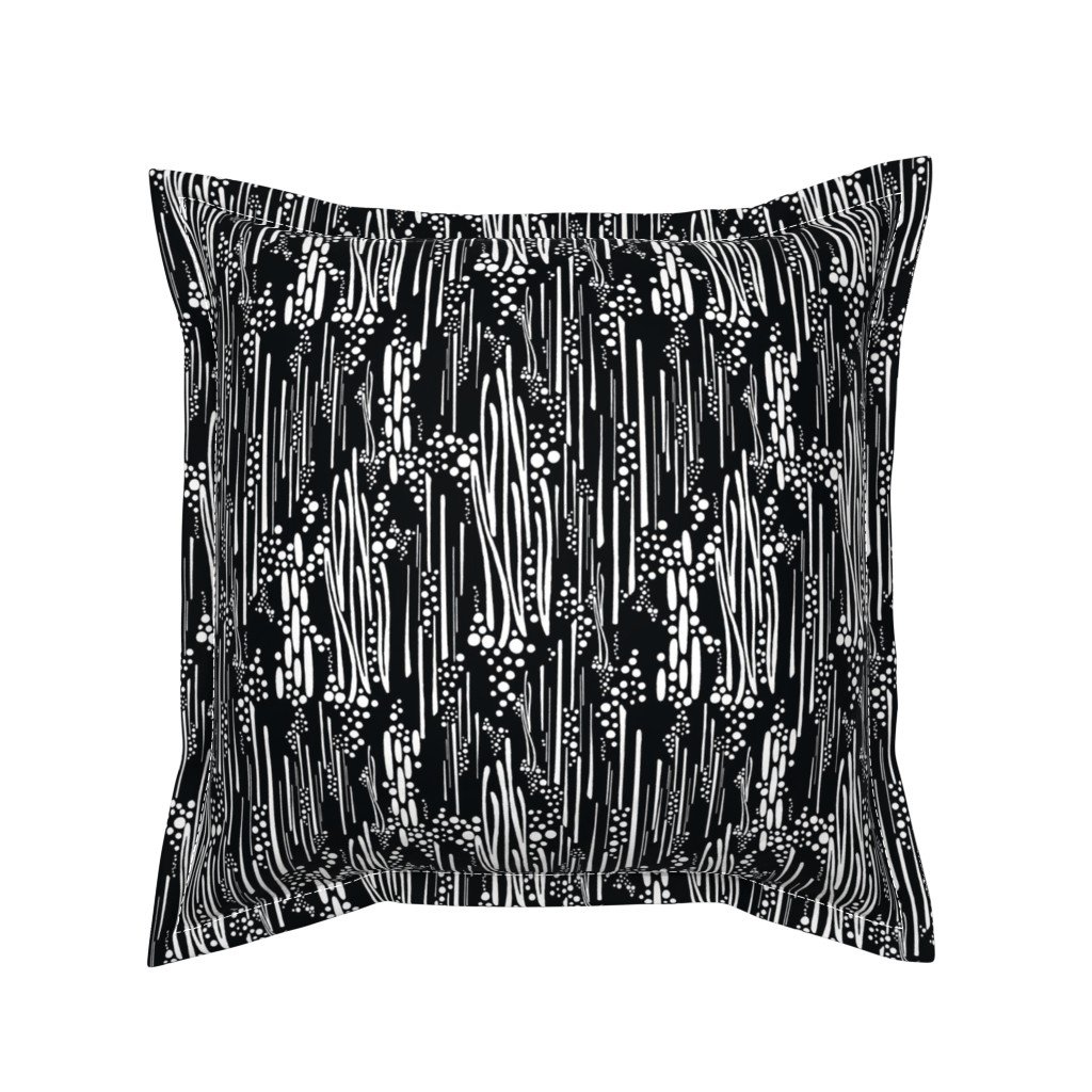 Serama Throw Pillow featuring Black & White, Doodle & Dot by christinemay