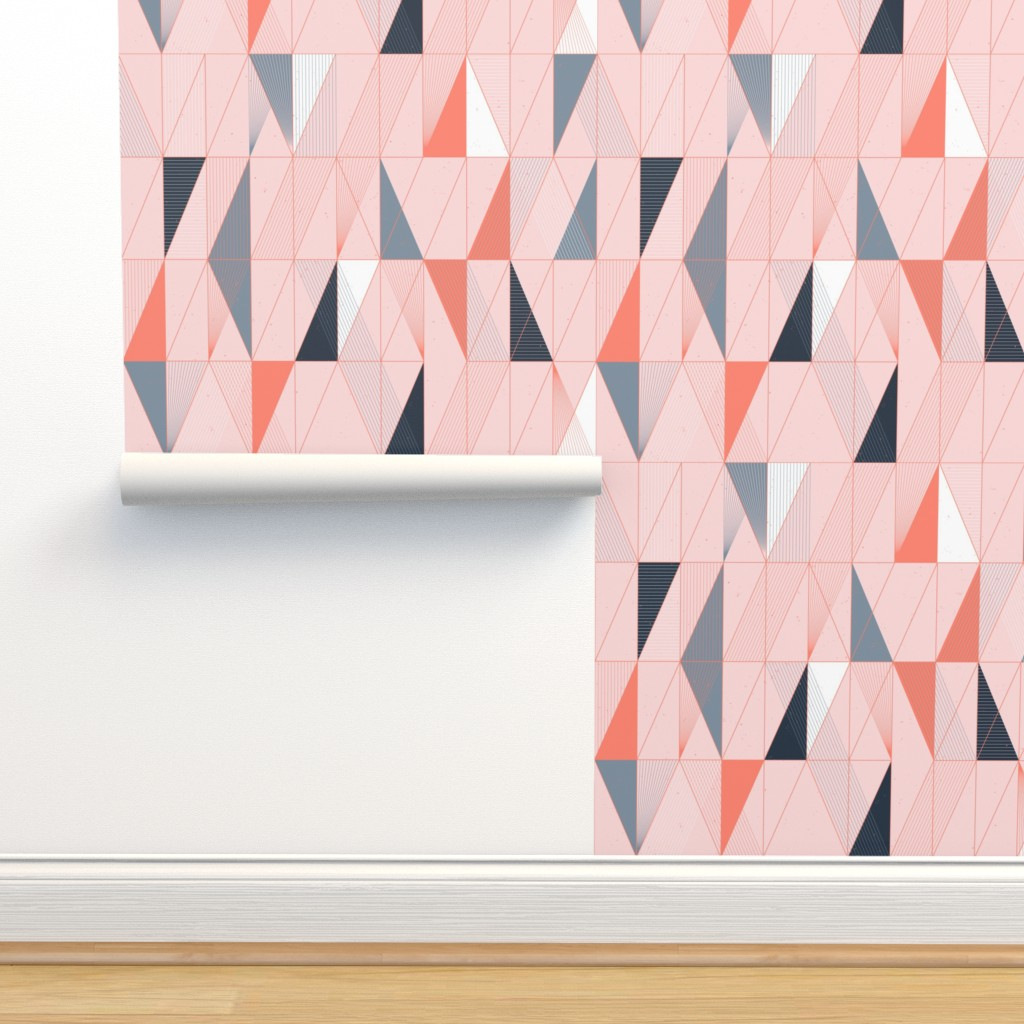Isobar Durable Wallpaper featuring Miami Sunset Mod Deco Bits by Friztin by friztin