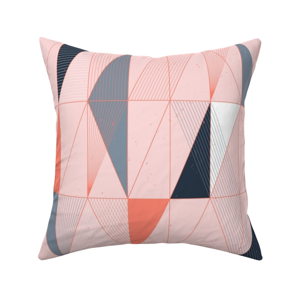 Catalan Throw Pillow featuring Miami Sunset Mod Deco Bits by Friztin by friztin