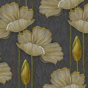Art Deco fleurs d'or