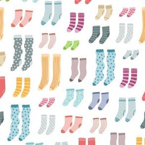 Colorful socks - bigger scale