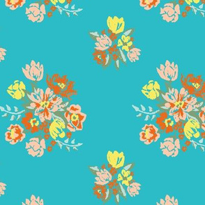 Sweet Southern Blossoms teal