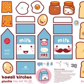 Kawaii Kitchen - plushie toy set