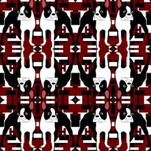 Retro Red Boston Terrier