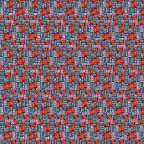 Ditsy Blocks in Red