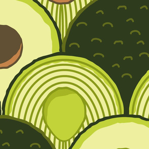 avodeco (avocados in art deco) jumbo