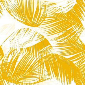 palm leaves- golden