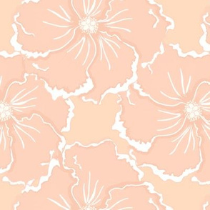 big hibiscus in coral nude