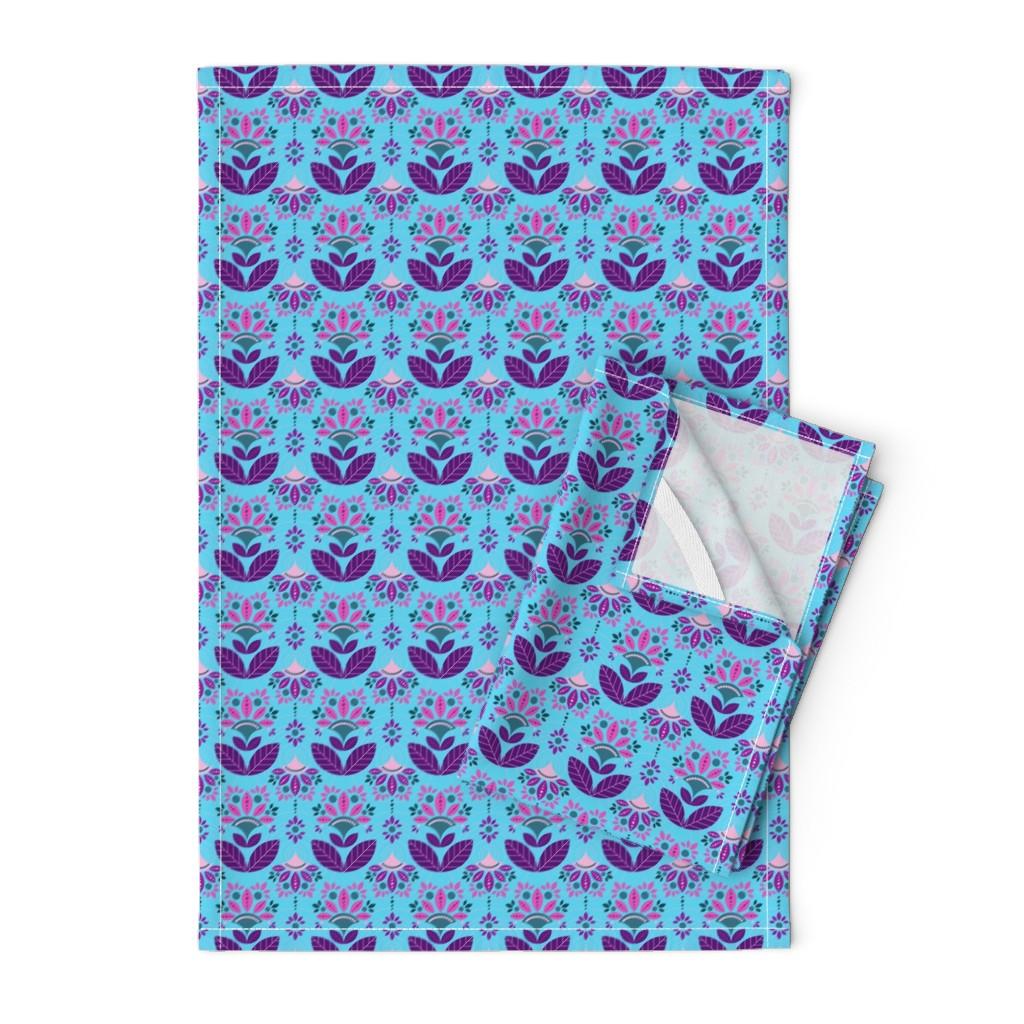 Orpington Tea Towels featuring Art Deco Inspiration by julia_faranchuk