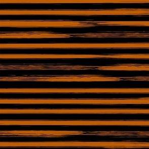 Orange and Black Watercolor Stripes