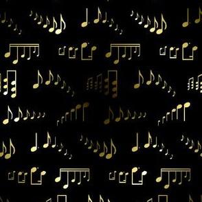 Metallic Musical Notes