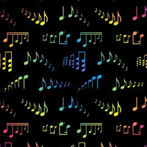 Rainbow Musical Notes