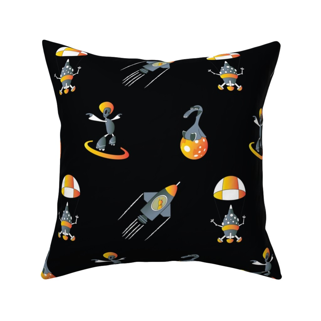 Catalan Throw Pillow featuring space black by alittlemonster