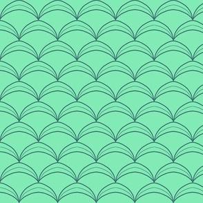Scallop Scale Jerkin Pattern - Brighter Minty Green