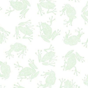 frog went a' courtin - pale green on white