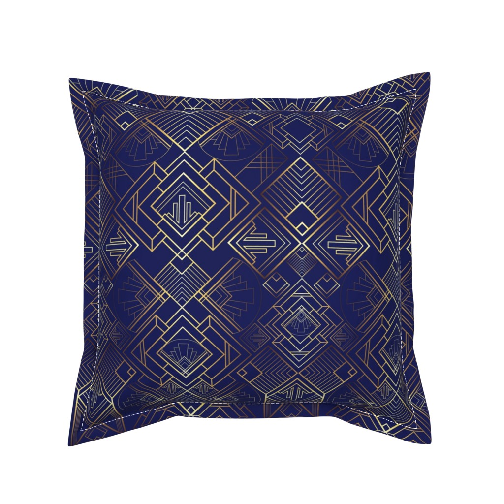 Serama Throw Pillow featuring The Brilliant Bizby - Navy by diseminger